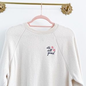 VS Pink It's All Good Embroidered Pullover